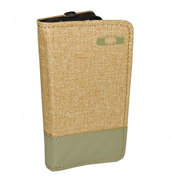 Carteira Oakley Halifax Green Woods com Case para Iphone 5