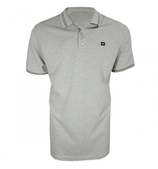 Camisa Polo Oakley Piquet Mege Cinza PROMOÇÃO