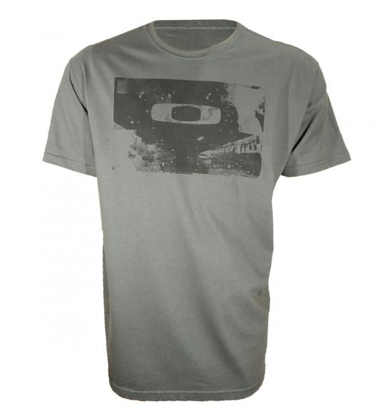 Camiseta Oakley Gascan Cinza PROMOÇÃO Ultima Peça tam G