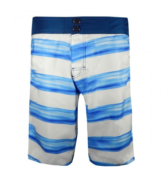 Rx Bermuda Água Alma de Praia Boarder Line Branca e Azul
