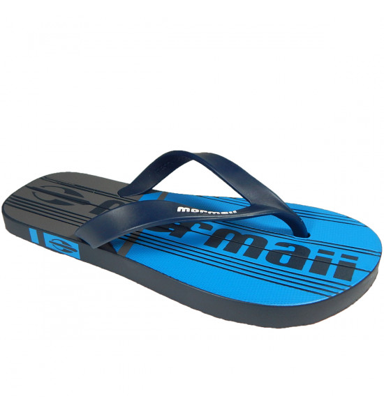 Chinelo Mormaii Tropical Graphics Azul com Cinza