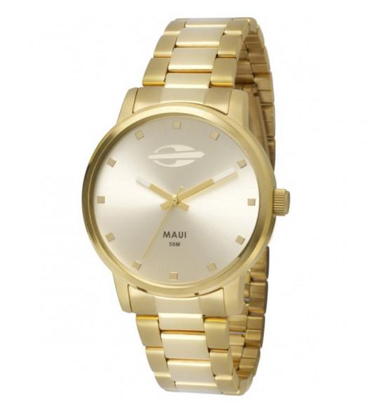 fd3ec0e08d2 Relógio Mormaii Maui Girls Dourado ref MO2035GN 4K
