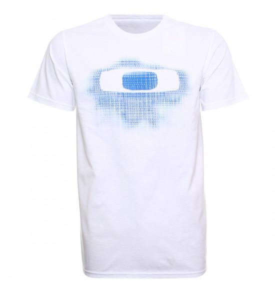 Camiseta Oakley PlaId O Tee Branca PROMOÇÃO
