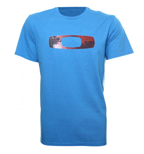 Camiseta Oakley Avoid Squared O Tee Azul PROMOÇÃO