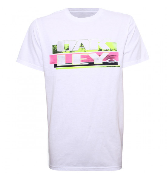 Camiseta Oakley Off Course Tee Branca LIQUIDAÇÃO VERÃO