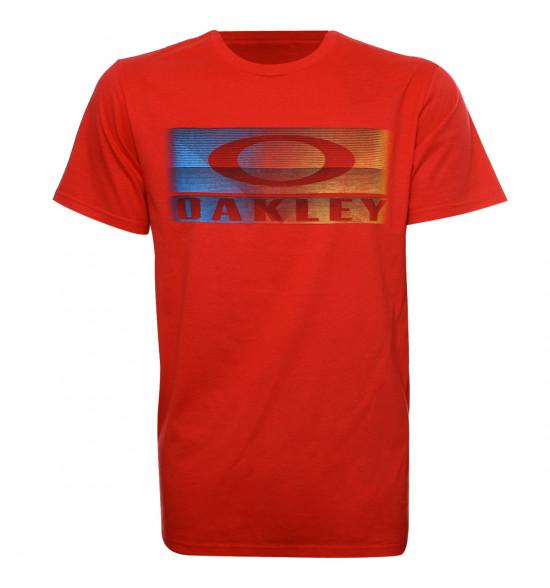 Camiseta Oakley Arrivel Logo Vermelha LIQUIDAÇÃO VERÃO