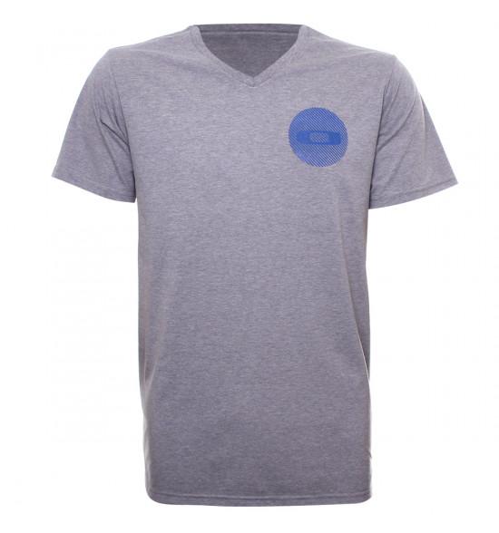 Camiseta Oakley Gola V Rocky Tee Cinza