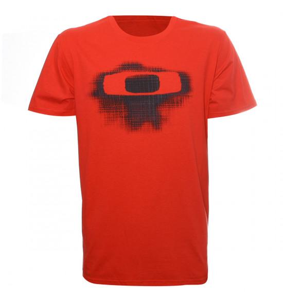 Camiseta Oakley PlaId O Tee Vermelha LANÇAMENTO