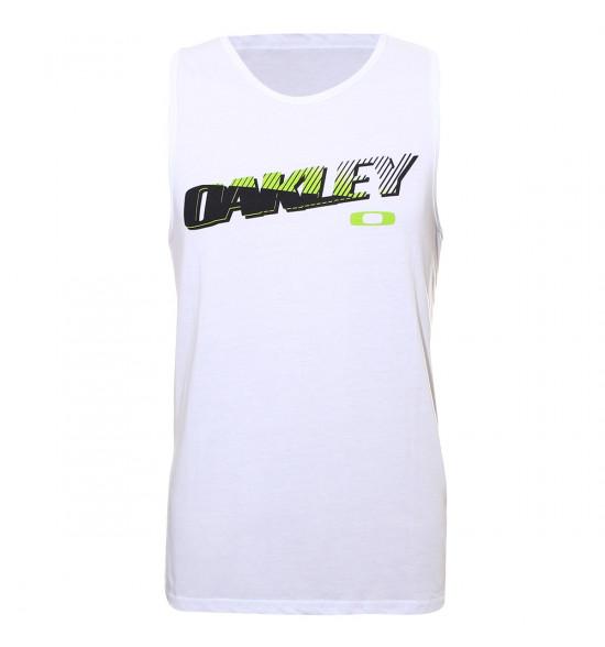 Regata Oakley Racing Tank Branca LIQUIDAÇÃO VERÃO