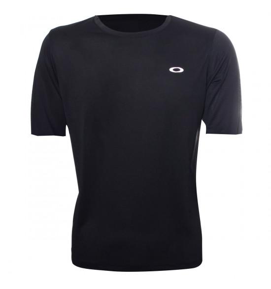 Camiseta Oakley Fitness Wind 2.0 Preta PROMOÇÃO