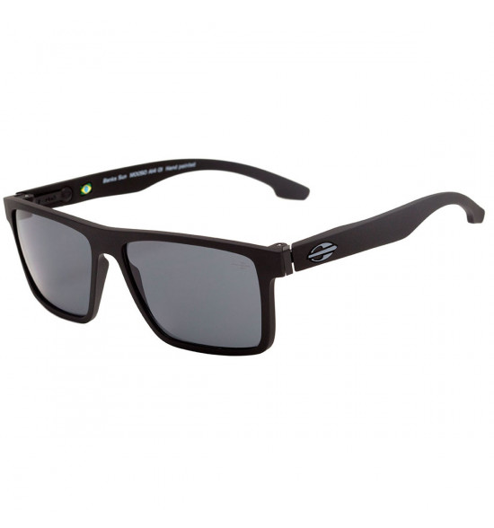 2298109dc Óculos Mormaii Banks Preto Fosco/ Lente Cinza ref M0050A1401