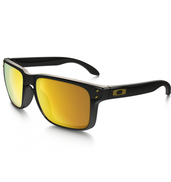 Óculos Oakley Holbrook  Polished Black / Lente 24K Gold Iridium