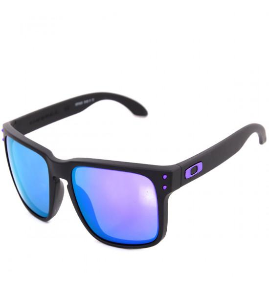 8b5a0f561 Óculos Oakley Holbrook Julian Wilson Matte Black/Lente Violet Iridium