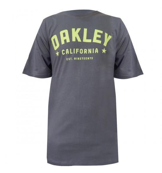 Camiseta Oakley Arch Tee 2.0 Cinza com Verde