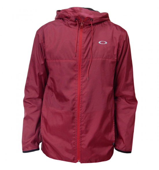 Jaqueta Oakley Windbreaker One Brand Bordô