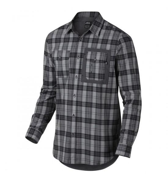 Camisa Oakley Xadrez O-Plaid Woven Preto
