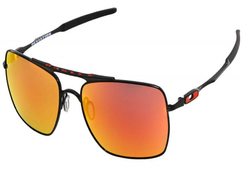 Oculos Oakley Deviation Polished Black W Ruby Iridium ref OO4061-04 030d6ea464
