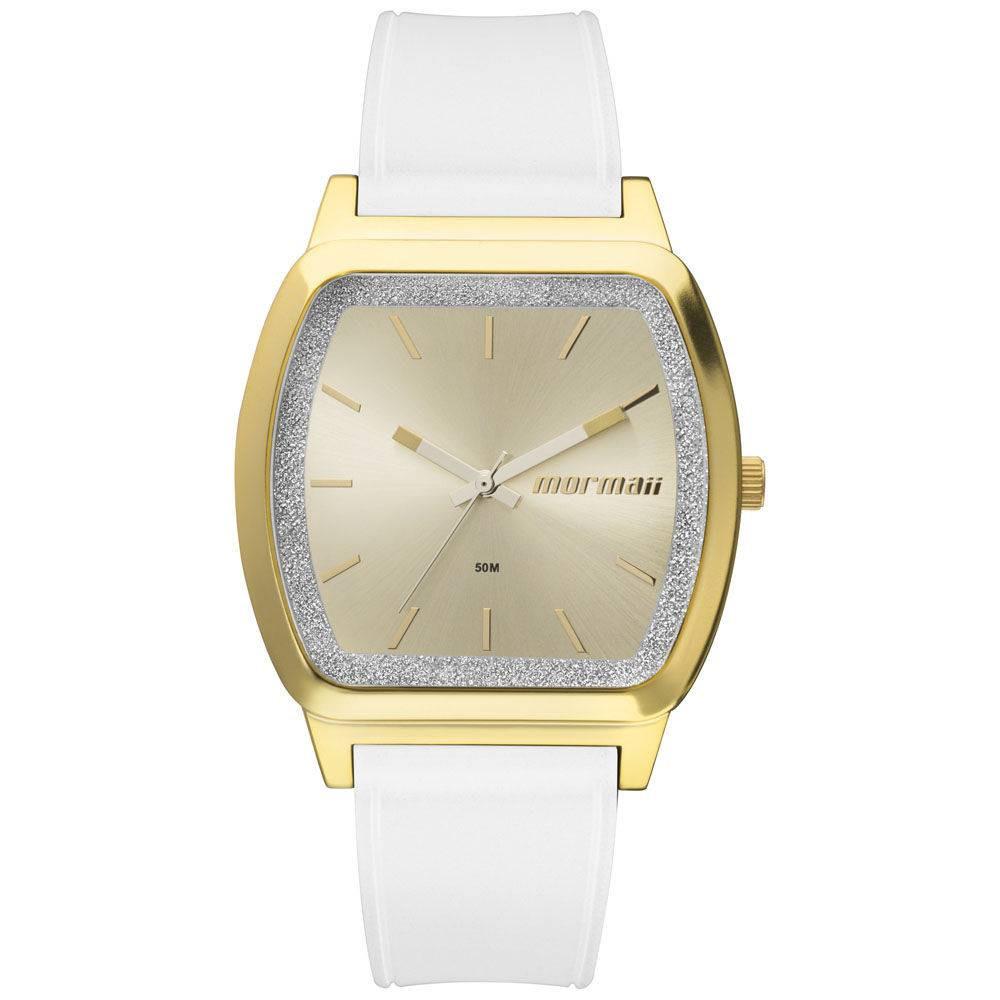 75a2ea3cc07de Relógio Mormaii Luau Branco com Dourado ref  MO2036EY 8A