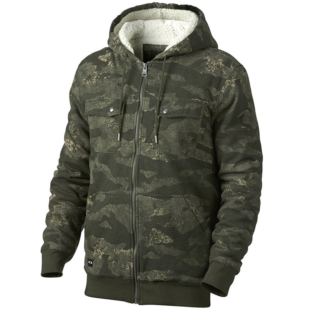 Moletom Oakley Agent Hoodie Fleece Camuflado Verde d98b1f6016