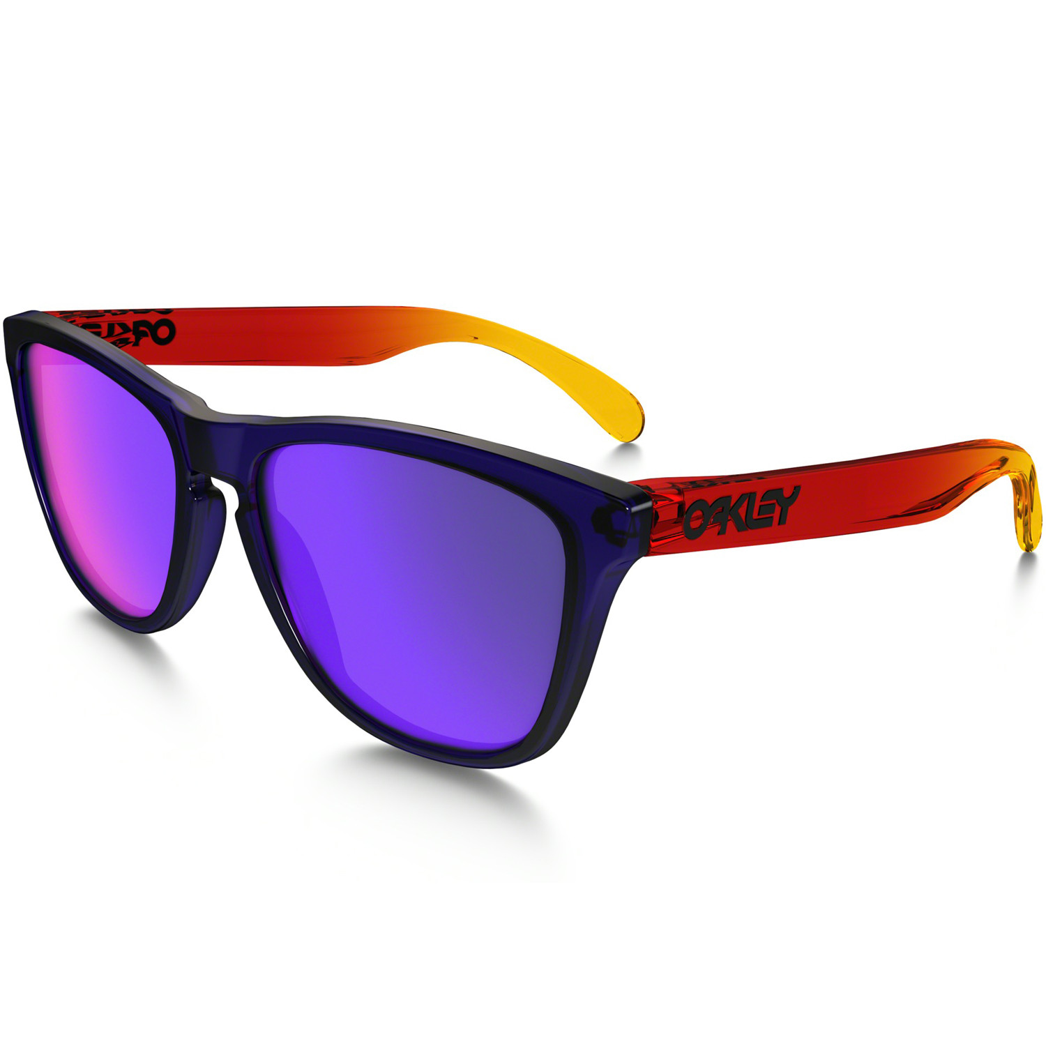 Óculos Oakley Frogskins Surf Collection Purple Red Lente Red Positive  Iridium fdd26df2d41fc