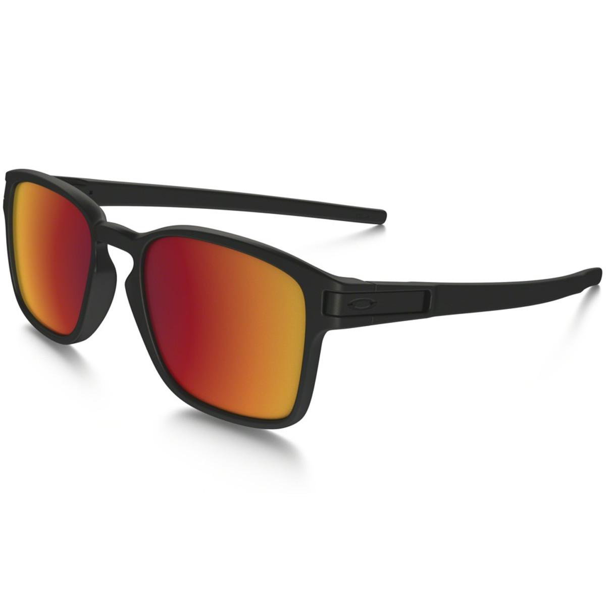 461bbf09dc92b Óculos Oakley Latch Square Matte Black Lente Torch Iridium ref OO9353-03