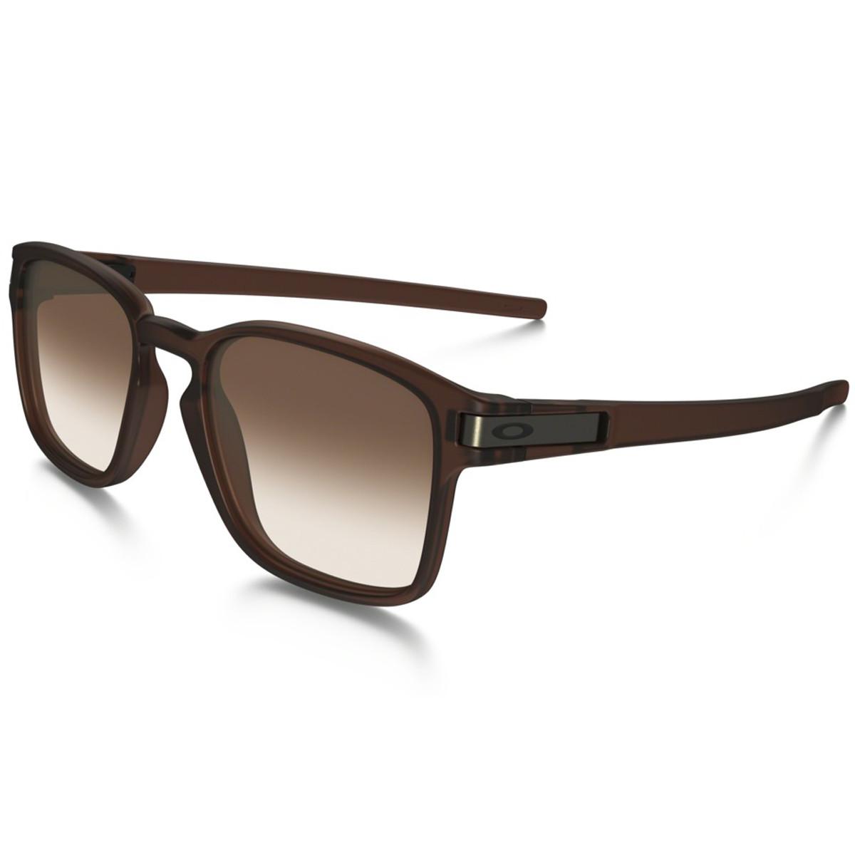 5deecdf221faf Óculos Oakley Latch Square Matte Rootbeer Lente Dark Brown Gradient ...