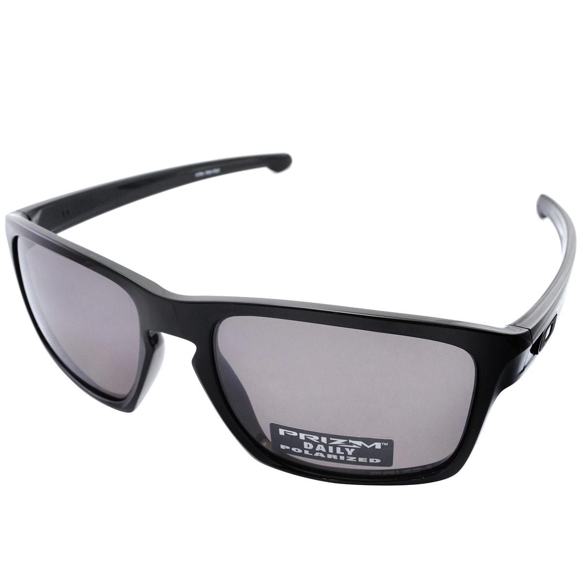 97353922efd65 Óculos Oakley Sliver Polished Black Lente Prizm Black Polarizado ref ...
