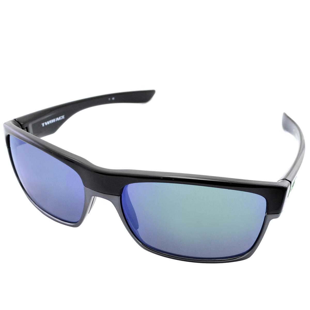 Óculos Oakley TwoFace Polished Black Lente Jade Iridium ref OO9189-04 4ac948c00d