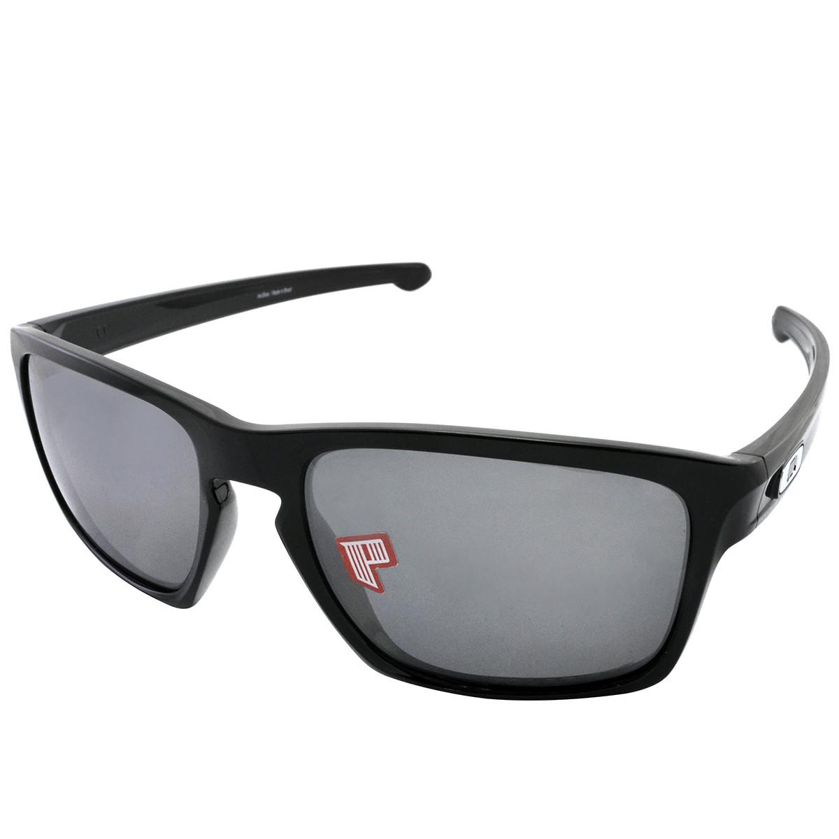 Óculos Oakley Sliver Polished Black Lente Black Iridium Polarizado ... 5fbefbf3c7