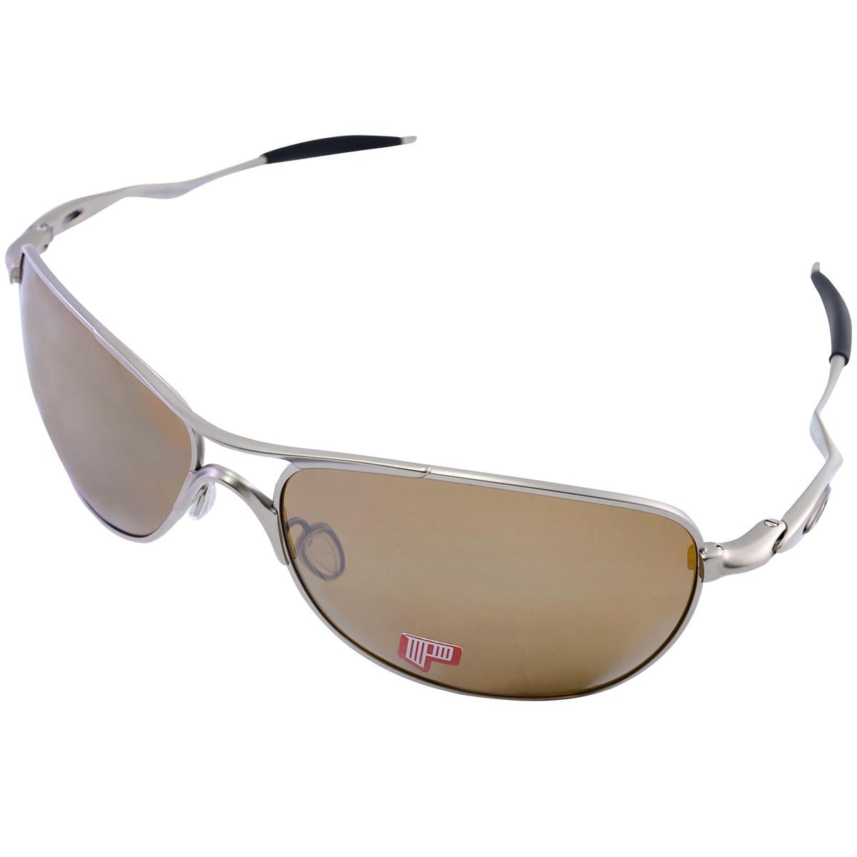 Óculos Oakley Crosshair Brown Titanium Lente Tungstein Iridium Polarizado 3d57300c94