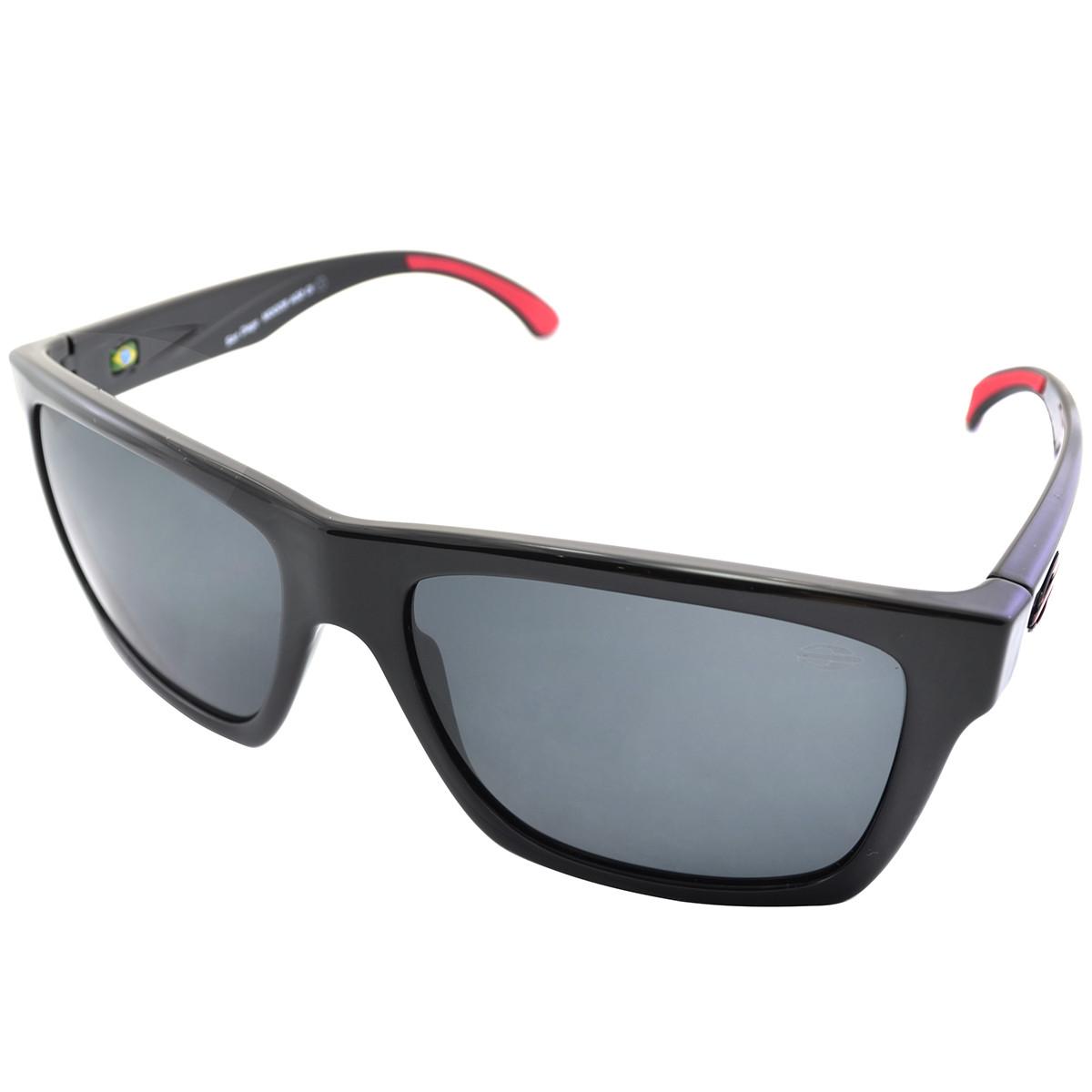 Óculos Mormaii San Diego Preto Brilho  Lente Cinza Polarizada ref ... 21af59a8e2