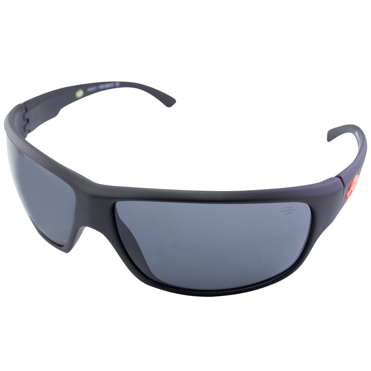 Óculos Mormaii Joaca 2 Preto Fosco  Lentes Cinza Logo Laranja ... 4ef424c4ed