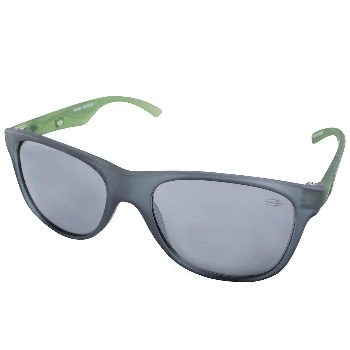 ab42b48ece635 Óculos Mormaii Lances Cinza e Verde Lente Cinza ref 42201109