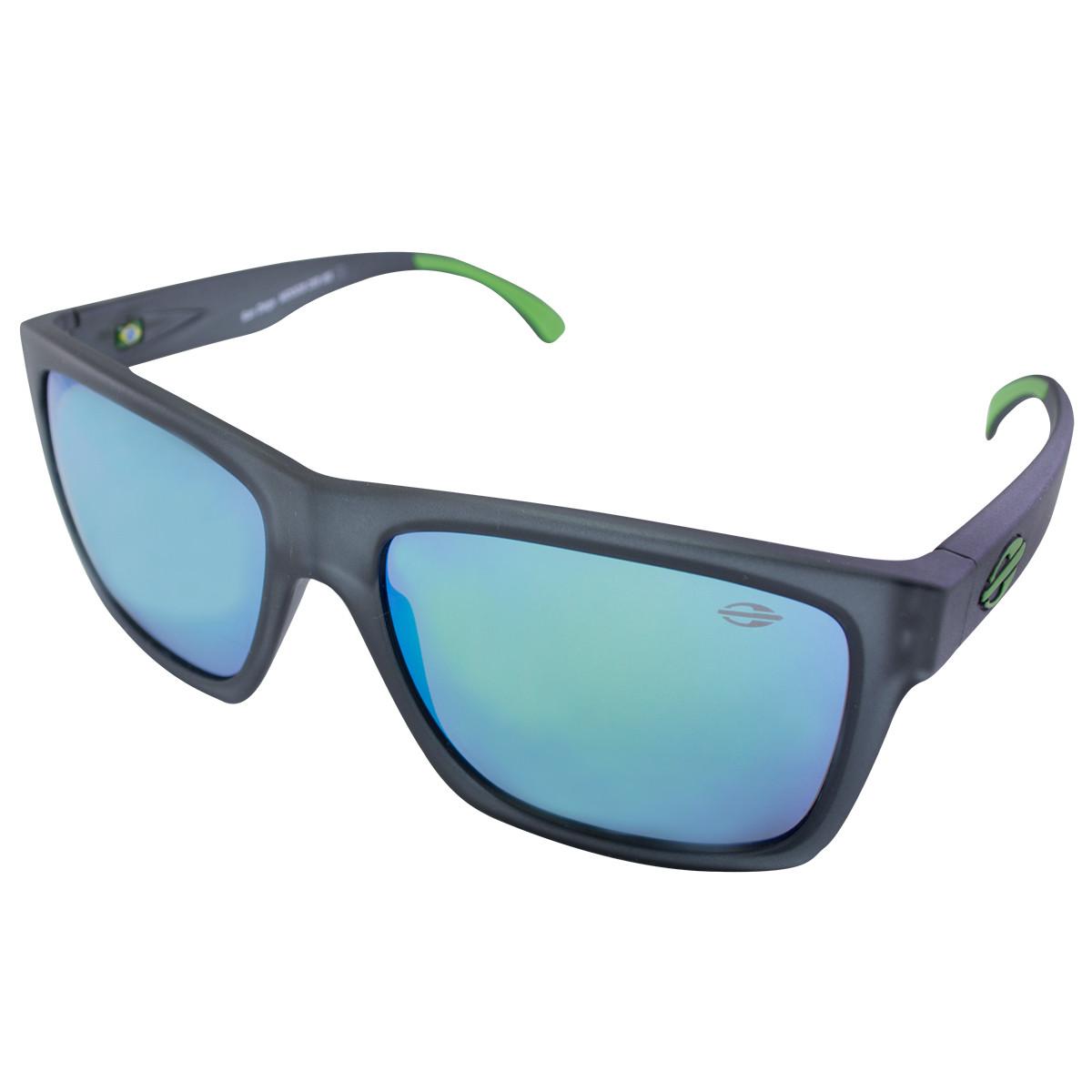 Óculos Mormaii San Diego Chumbo Fosco  Lente Verde Espelhada ref ... e993832f34