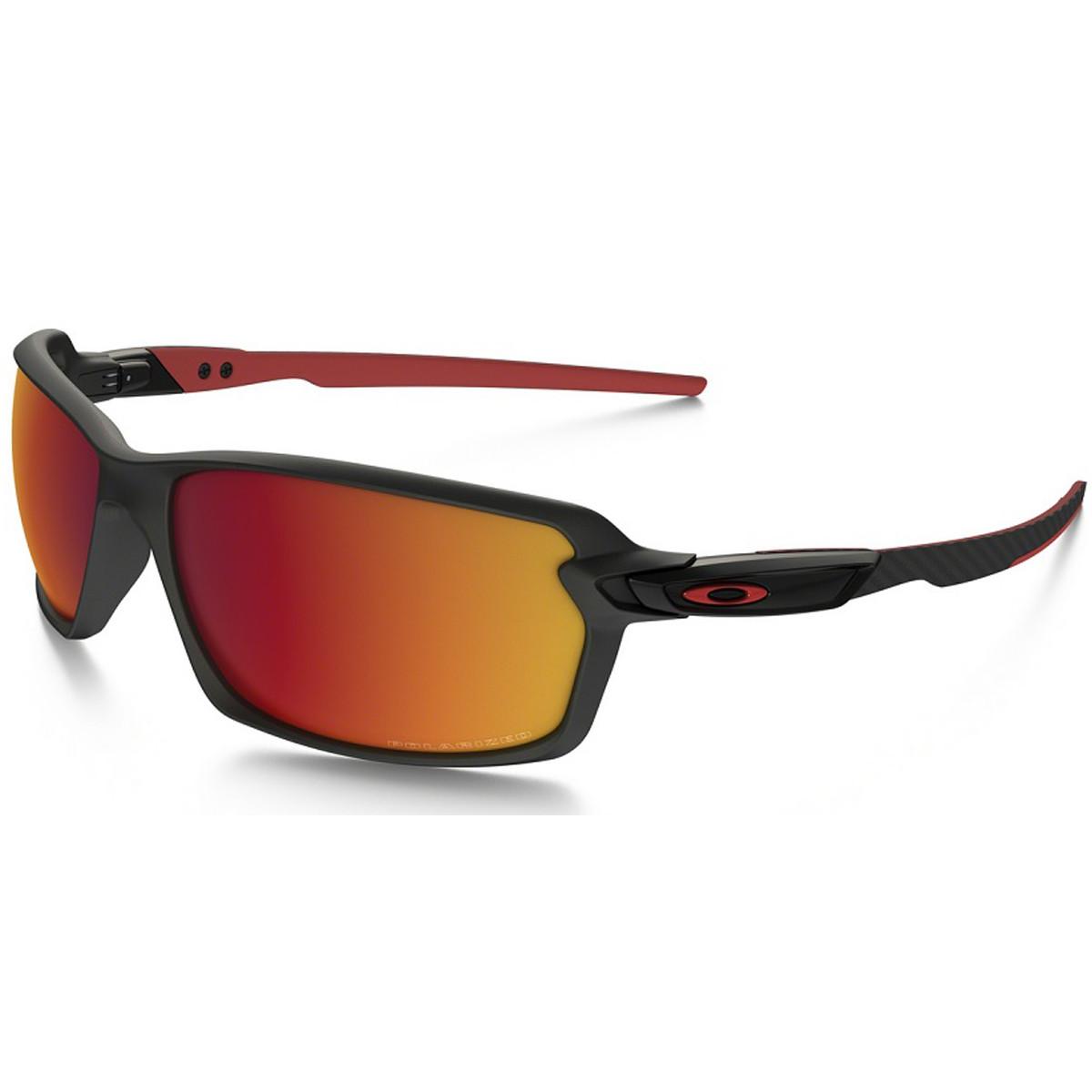 0594336236499 Óculos Oakley Carbon Shift Matte Black  Lente Torch Iridium Polarizado
