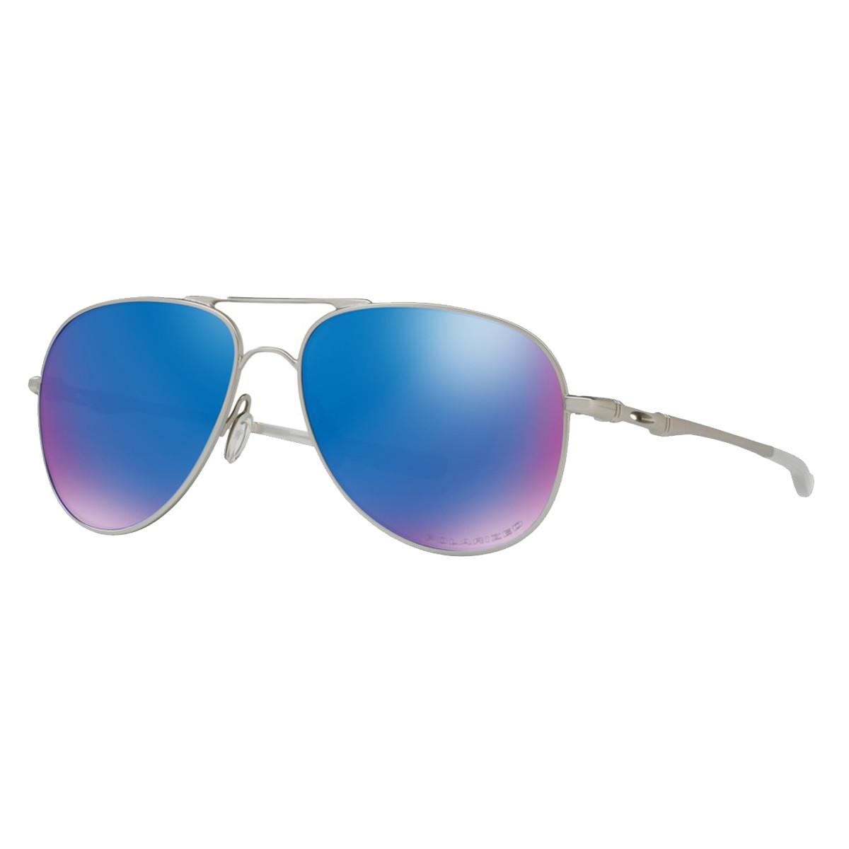 Óculos Oakley Elmont L Satin Chrome  Lente Saphire Iridium Polarizado be2d4ad7fe