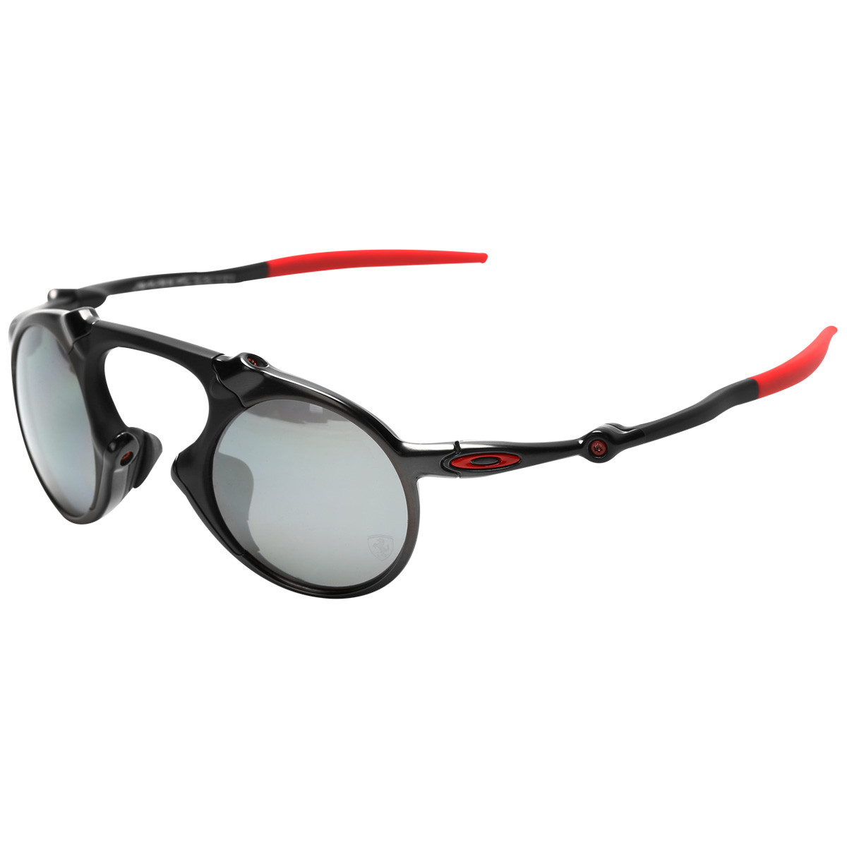 7da78d99303f5 Óculos Oakley Madman Ferrari Edition Dark Carbon Lente Black Iridium  Polarizado
