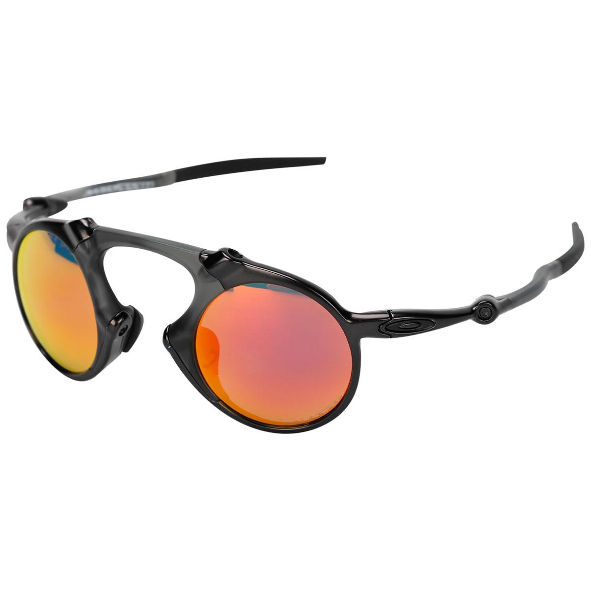 5a8ccc4548d3b Óculos Oakley Madman Dark Carbon Lente Ruby Iridium Polarizado ref ...