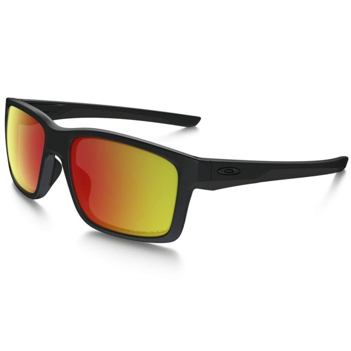 7d25eead51564 Óculos Oakley Mainlink Matte Black  Lente Ruby Iridium Polarizado ...