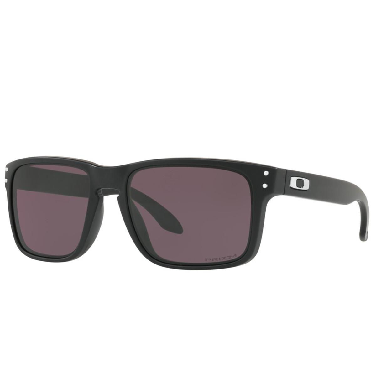 Óculos Oakley Holbrook Matte Black  Lente Prizm Grey ref OO9102-E8 85b184db6f