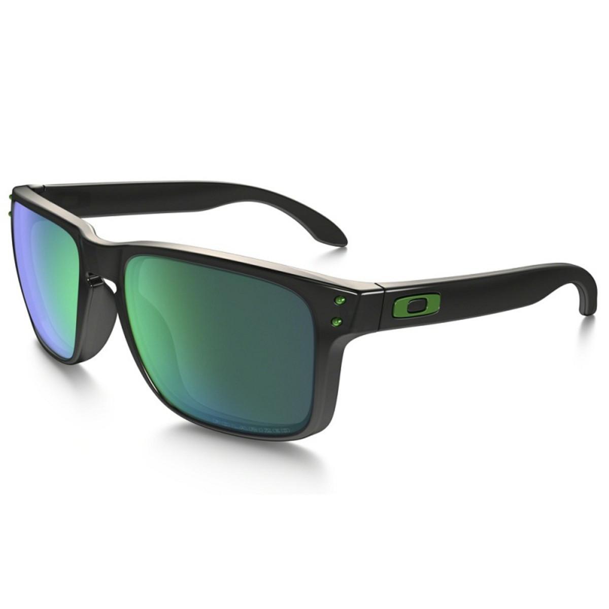 87c17f849c4d6 Óculos Oakley Holbrook Polished Black  Lente Jade Iridium Polarizado ...