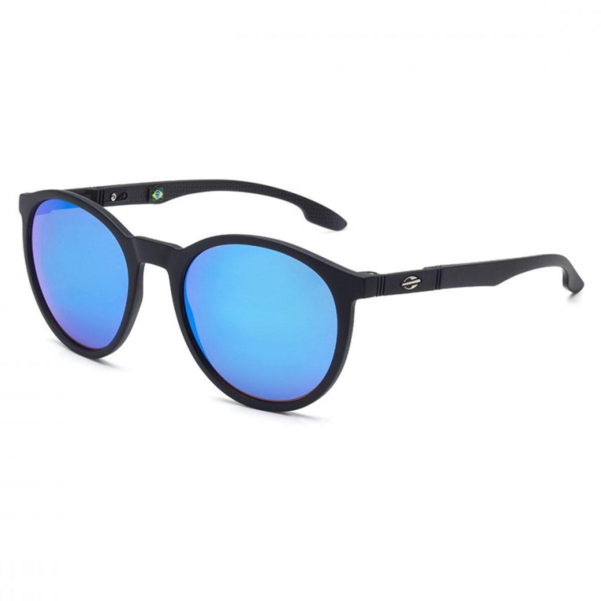 ade67289e97e9 Óculos Mormaii Maui Preto Fosco  Lente Azul Espelhado ref M0035A1497