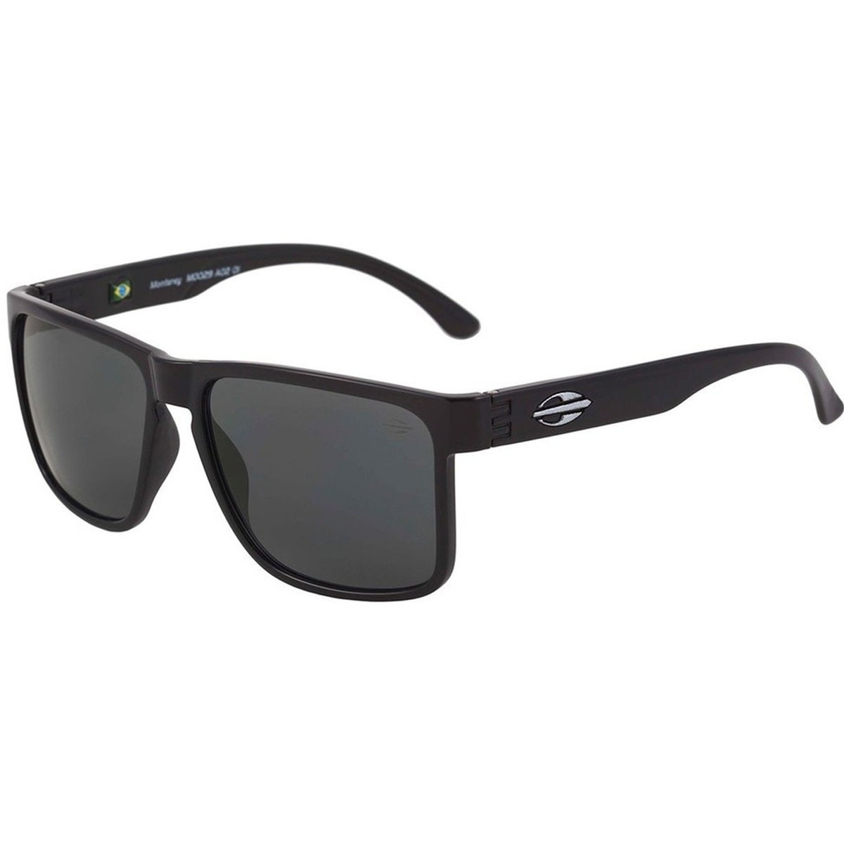 Óculos Mormaii Monterey Preto Fosco  Lente Cinza ref M0029A1401 b9d38bab48