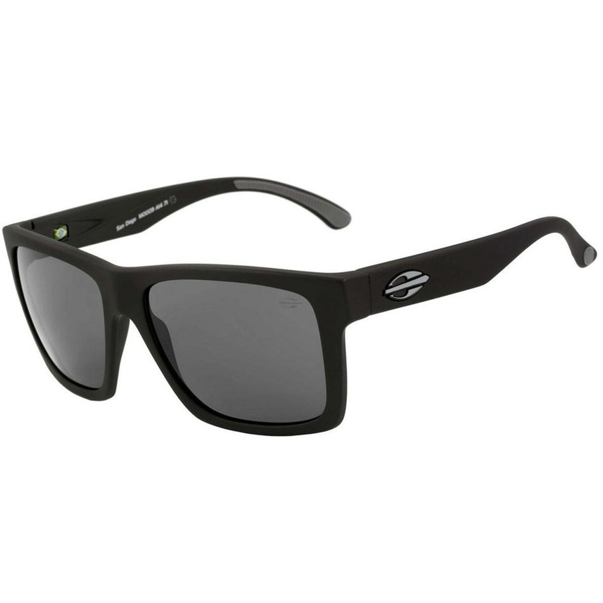 Óculos Mormaii San Diego Preto Fosco Lente Cinza ref M0009A1401 609769d418