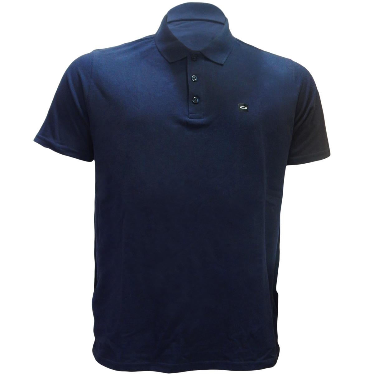 Camisa Polo Oakley Essential Patch Azul Marinho ref 433493-6AC 74327e7b04a5c