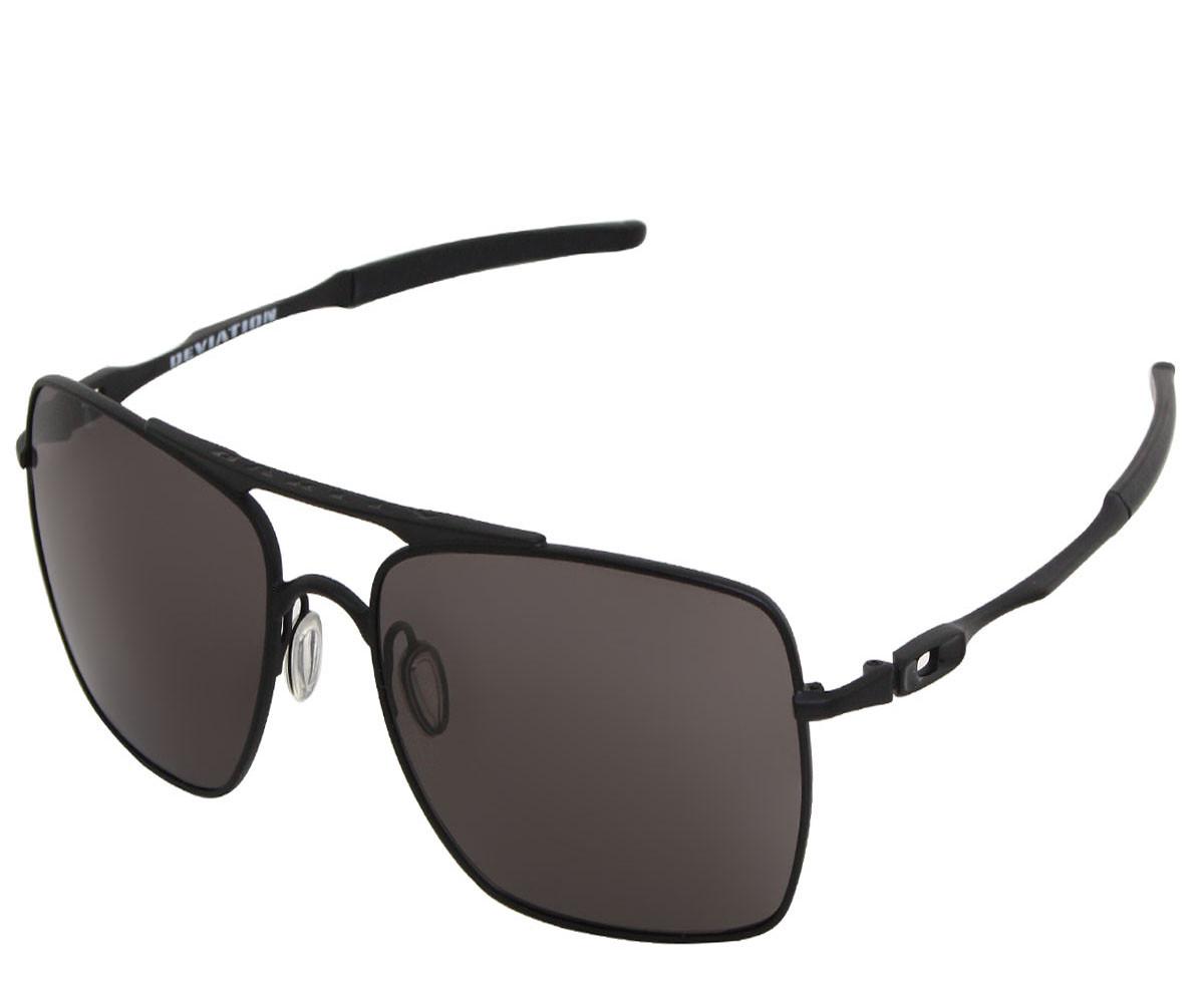 Óculos Oakley Deviation Matte Black Lente Warm Grey ref OO4061-01 c361141496