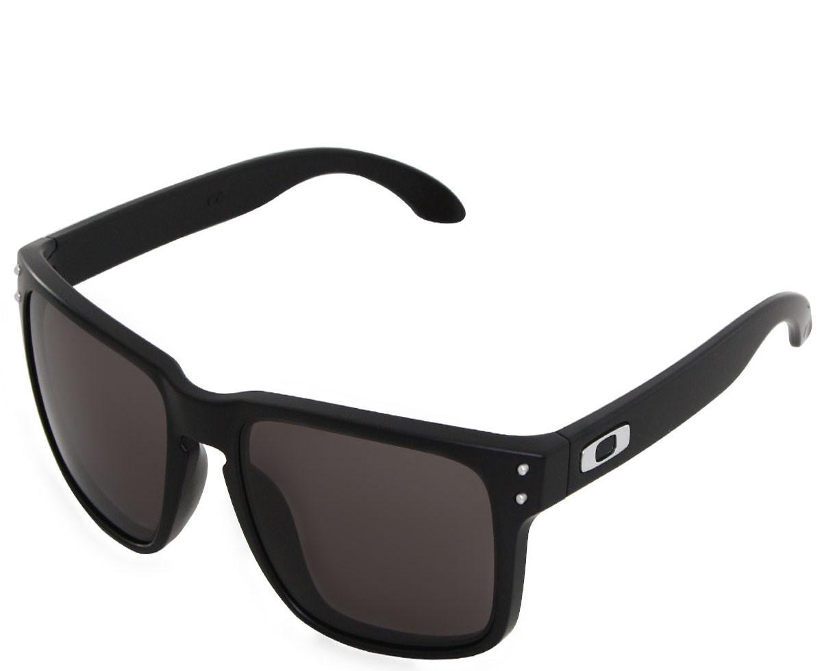Óculos Oakley Holbrook Matte Black Lente Warm Grey ref OO9102-01 e8a5a1ca44
