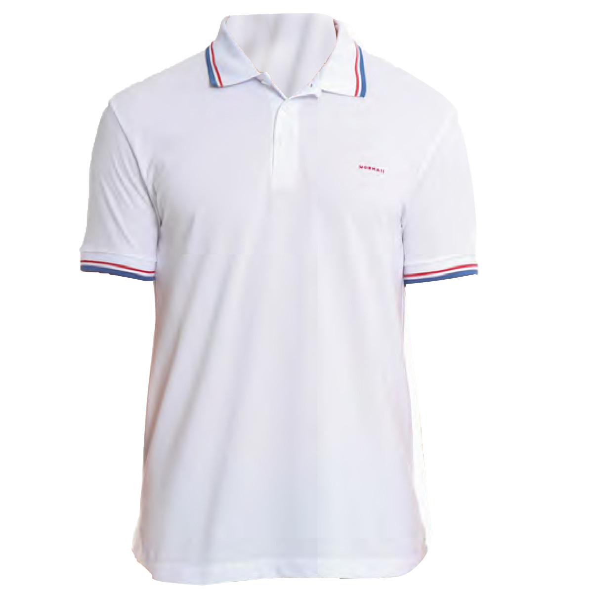 cc8d3cee10 Camisa Polo Mormaii Branca com LIstra Azul ref 255900076-0001