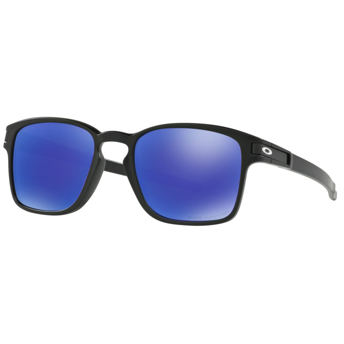 1f5855b7ff836 Óculos Oakley Latch Square Matte Black  Lente Violet Iridium Polarizado