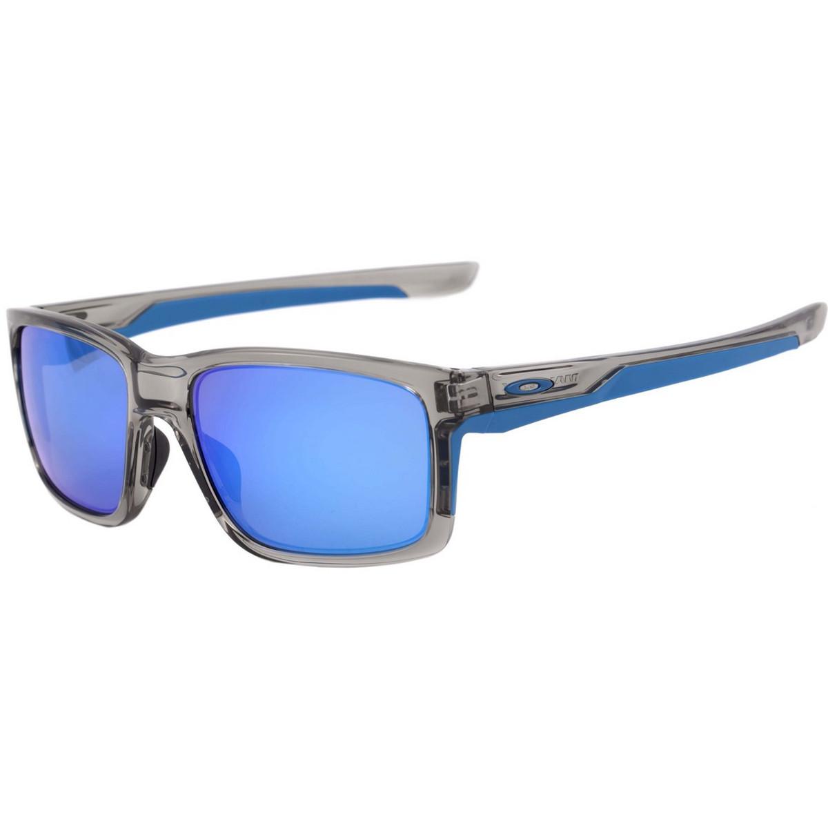 a87fc06342720 Óculos Oakley Mainlink Grey Ink  Lente Sapphire Iridium ref OO9264-03